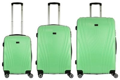 Комплект чемоданов 3в1 Alezar Cyprus - Light Green (L+M+S)