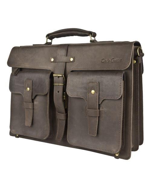 Кожаный портфель Inferiore brown (арт. 2033-31)