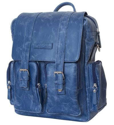 Кожаный рюкзак-сумка Fiorentino blue (арт. 3003-07)