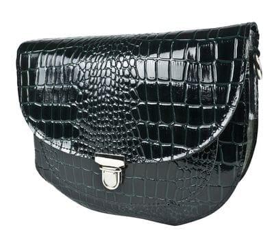 Кожаная женская сумка Amendola dark green (арт. 8003-11)