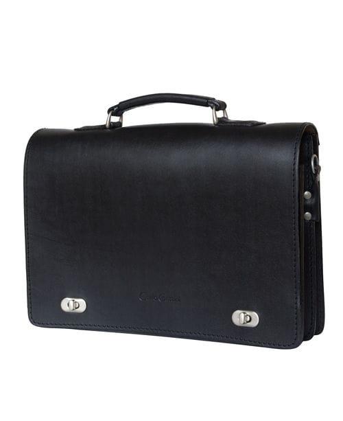Кожаный портфель Rofelle black (арт. 2001-30)