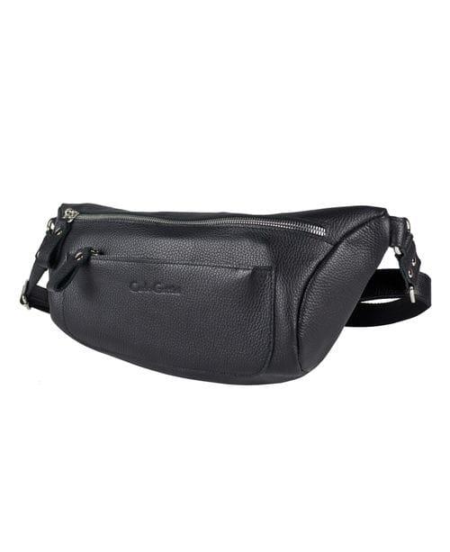 Кожаная мужская сумка Bertiolo black (арт. 5053-01)
