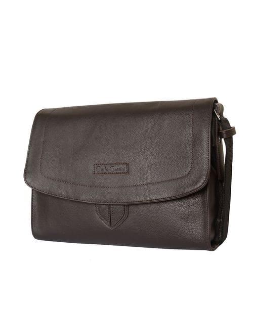 Кожаная сумка через плечо Albano brown (арт. 5006-04)