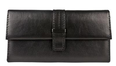 Кожаный кошелек Arsa black (арт. 7704-01)