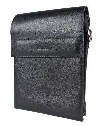 Кожаная мужская сумка Feruda black (арт. 5050-01)
