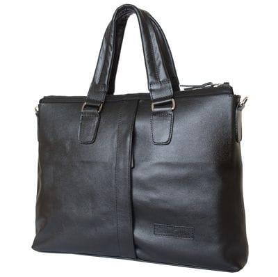 Кожаная мужская сумка Cimetta black (арт. 5018-01)