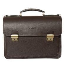 Кожаный портфель Corfino brown (арт. 2008-04)