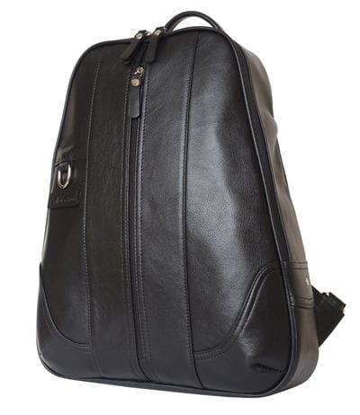 Кожаный рюкзак Razzolo black (арт. 3036-01)