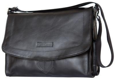 Кожаная сумка через плечо Albano black (арт. 5006-01)