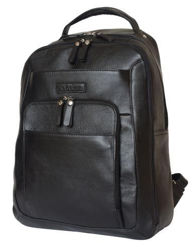 Кожаный рюкзак Monfestino black (арт. 3034-01)