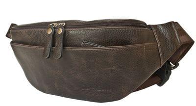 Кожаная поясная сумка Atessa brown (арт. 7009-04)