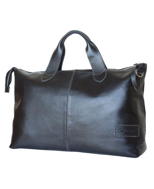 Кожаная дорожная сумка Cassolo black (арт. 4002-01)