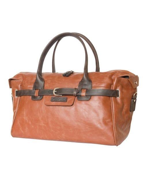 Кожаная дорожно-спортивная сумка Adamello cognac (арт. 4003-04)