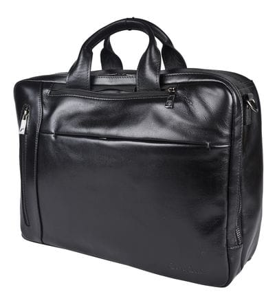 Кожаная сумка-рюкзак Martellago black (арт. 3089-01)