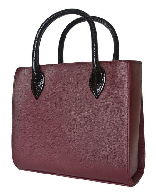 Кожаная женская сумка Sabbina bordo (арт. 8022-09)