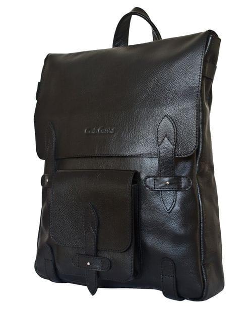 Кожаный рюкзак Arma black (арт. 3051-01)