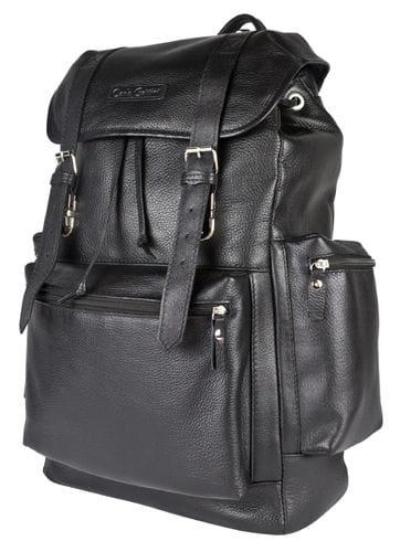 Кожаный рюкзак Voltaggio black (арт. 3091-01)