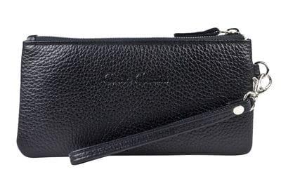 Кожаный кошелек / клатч Rumo black (арт. 7415-01)