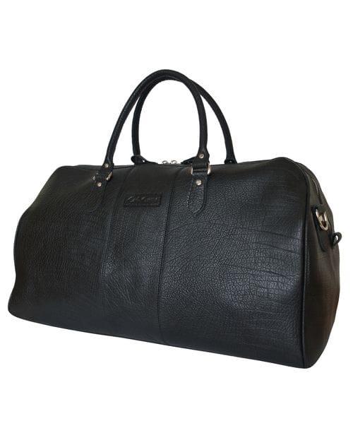 Кожаная дорожная сумка Campelli black (арт. 4014-81)