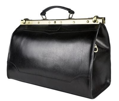 Кожаный саквояж Montorio black (арт. 4029-01)