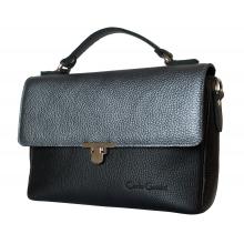 Кожаная женская сумка Vallerana black (арт. 8021-01)