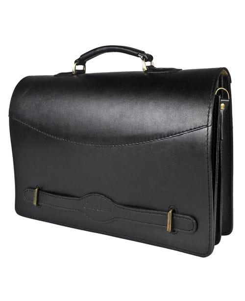 Кожаный портфель Montebello black (арт. 2029-01)