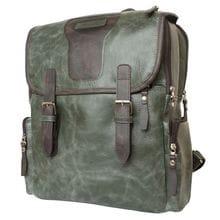Кожаный рюкзак Santerno green/brown (арт. 3007-11)