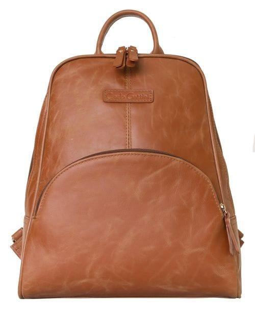 Женский кожаный рюкзак Estense cognac (арт. 3014-03)