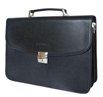 Кожаный портфель Remedello black (арт. 2021-30)