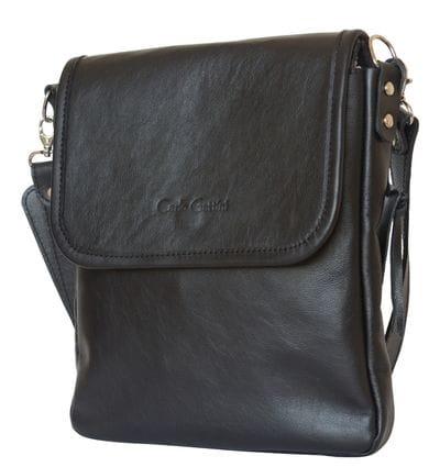 Кожаная мужская сумка Lotelli black (арт. 5027-01)
