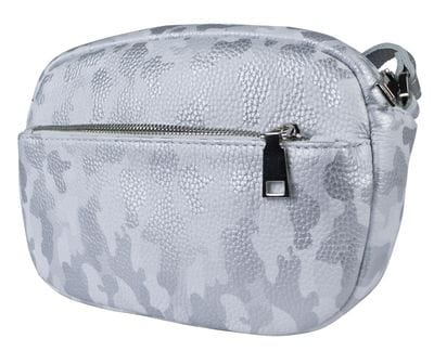 Кожаная женская сумка Cristina white military (арт. 8032-17)