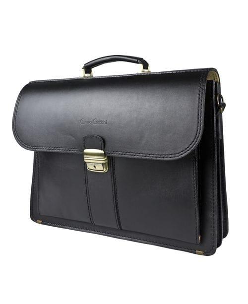 Кожаный портфель Beritti black (арт. 2028-01)