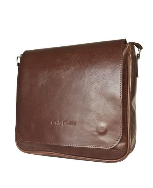Кожаная мужская сумка Bolviso brown (арт. 5037-02)