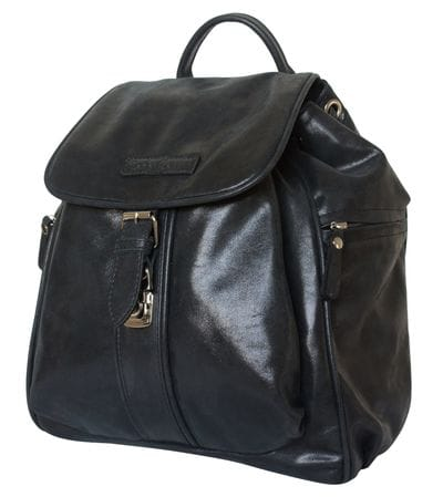 Женский кожаный рюкзак Aventino black (арт. 3008-20)