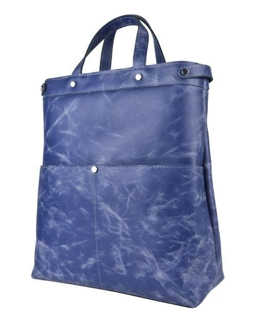 Кожаная сумка-рюкзак tassara blue (арт. 3084-07)