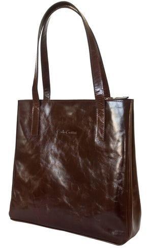 Кожаная женская сумка Vietto brown (арт. 8008-02)