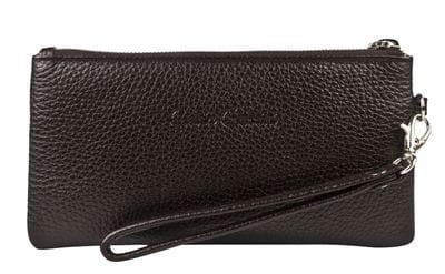 Кожаный кошелек / клатч Rumo brown (арт. 7415-04)