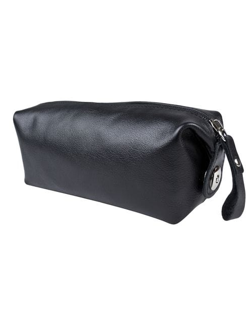 Кожаный несессер Alvano black (арт. 6008-01)