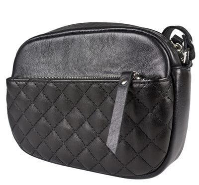 Кожаная женская сумка Cristina black (арт. 8032-01)