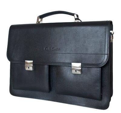 Кожаный портфель Montorio black (арт. 2022-30)