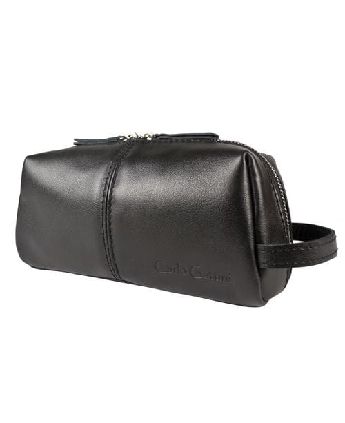 Кожаный несессер Colleferro black (арт. 6005-01)