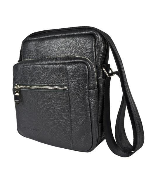 Кожаная мужская сумка Luviera black (арт. 5048-01)