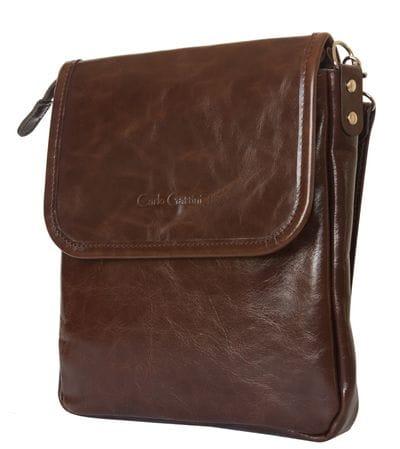 Кожаная мужская сумка Lotelli brown (арт. 5027-02)