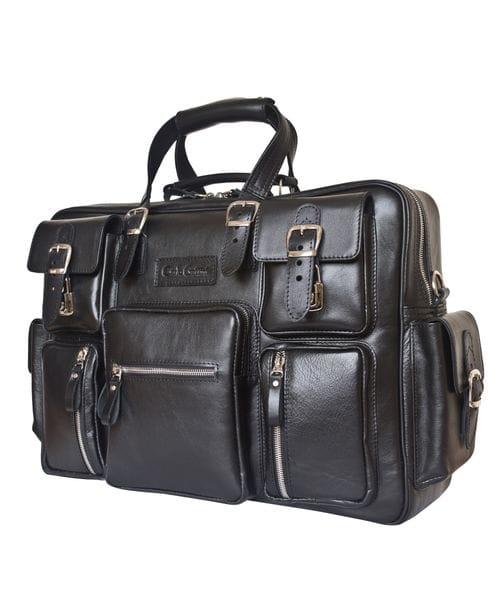 Кожаная мужская сумка Fornelli black (арт. 5033-01)