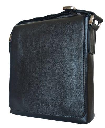 Кожаная мужская сумка Vallecorsa black (арт. 5044-01)