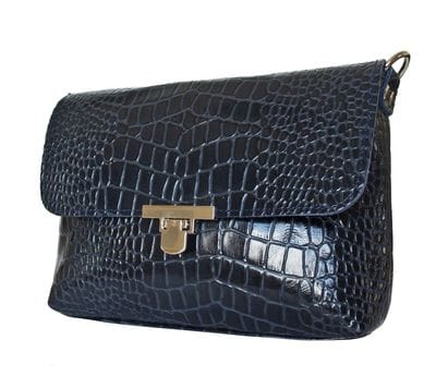 Кожаная женская сумка Fiesco dark blue (арт. 8015-19)