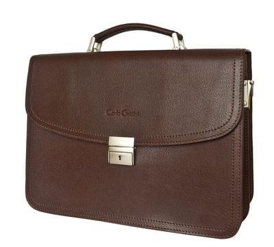 Кожаный портфель Remedello brown (арт. 2021-31)