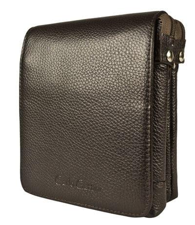 Кожаная мужская сумка Damboli brown (арт. 5046-04)