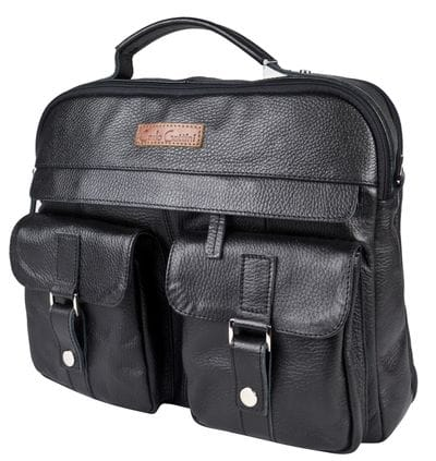 Кожаная мужская сумка Teolo black (арт. 5059-01)