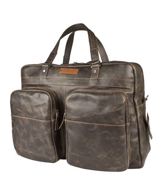 Кожаная дорожная сумка Oriolo black (арт. 4028-04)